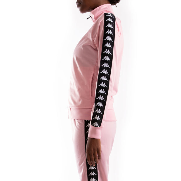 Kappa 222 Banda Wanniston Pink Black Track Jacket