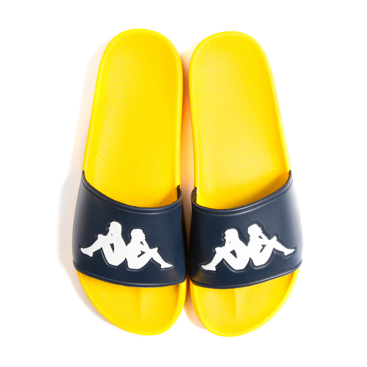 Authentic Adam 2 Slides - Blue Indigo Yellow