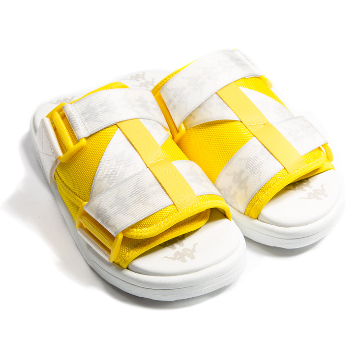 222 Banda Mitel 1 Yellow White Sandals