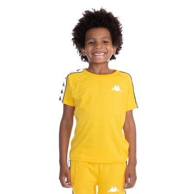 Kids 222 Banda Michael Reflective T-Shirt - Yellow Grey Reflective