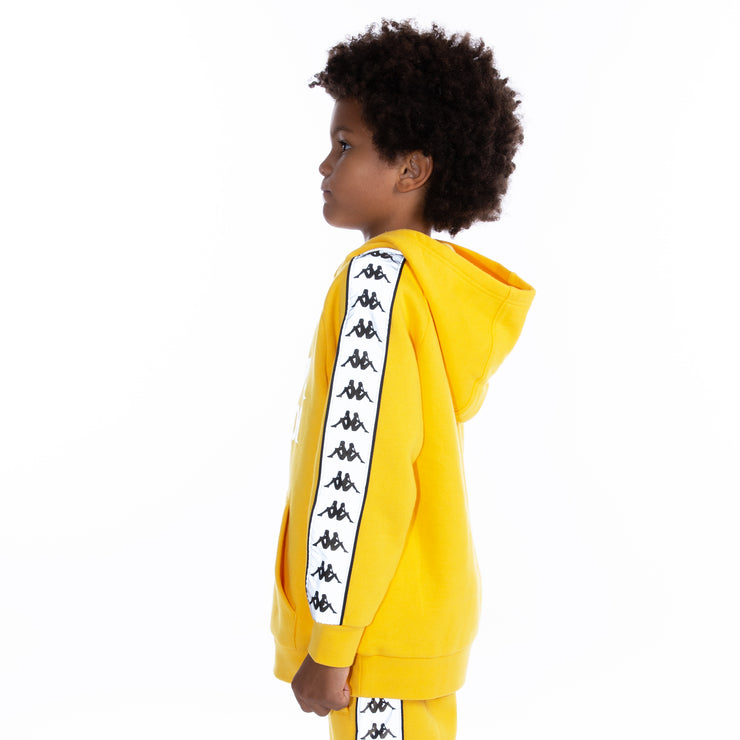 Kids 222 Banda Deniss Reflective Hoodie - Yellow Grey Reflective