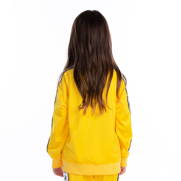 Kids 222 Banda Joseph Reflective Track Jacket Yellow Grey Reflective