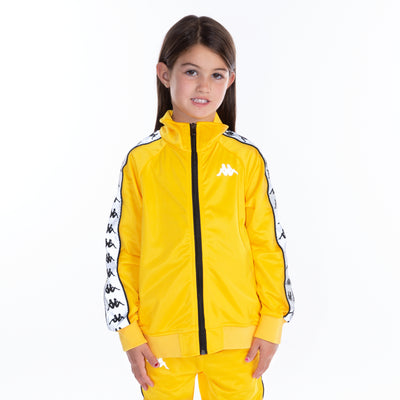 Kids 222 Banda Joseph Reflective Track Jacket - Yellow Grey Reflective