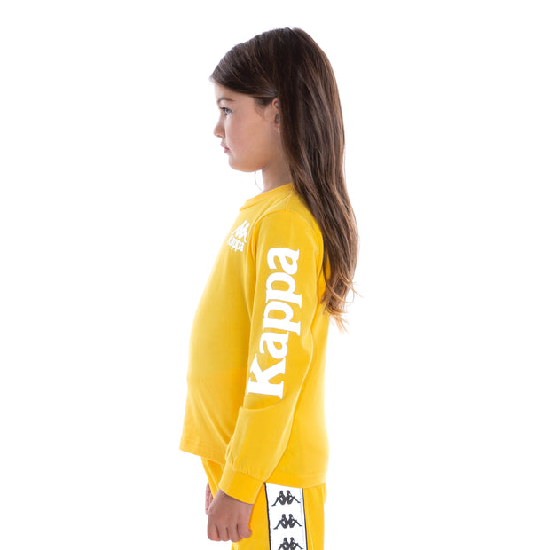 Kids Authentic Defer Reflective Long Sleeve T-Shirt - Yellow Grey Reflective