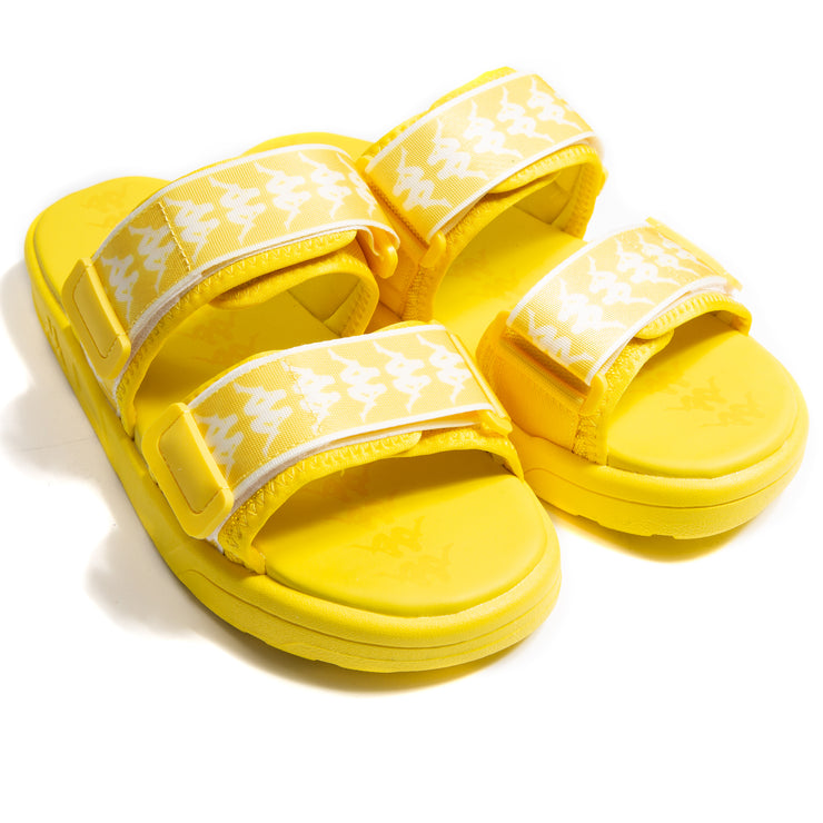 222 Banda Aster 1 Yellow White Sandals