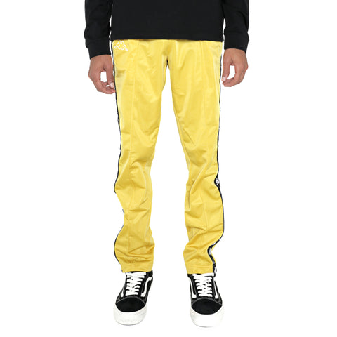 Kappa 222 Banda Astoria Slim Yellow Mustard Black Track Pants
