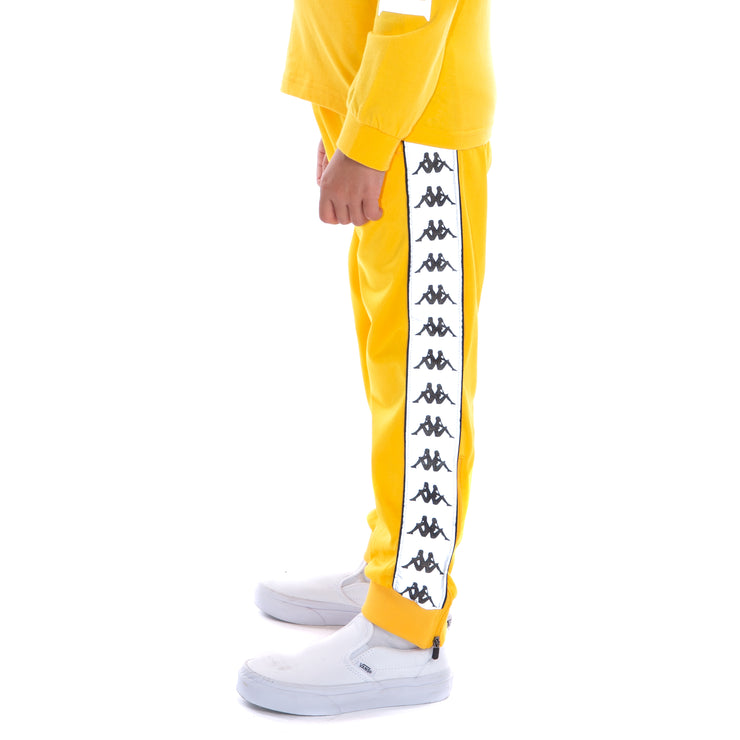 Kids 222 Banda Dodo Reflective Trackpants - Yellow Grey Reflective