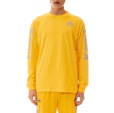 Authentic Defer Reflective Long Sleeve T-Shirt Yellow Grey Reflective