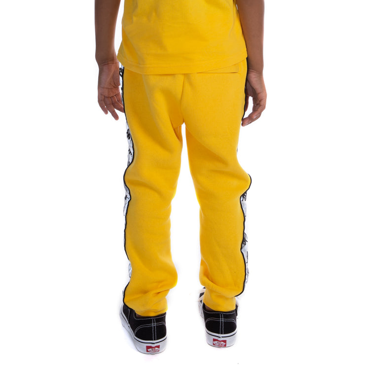 Kids 222 Banda Dariis Reflective Sweatpants - Yellow Grey Reflective