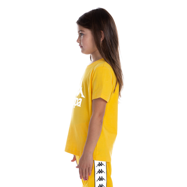 Kids 222 Banda Dris Reflective T-Shirt - Yellow Grey Reflective