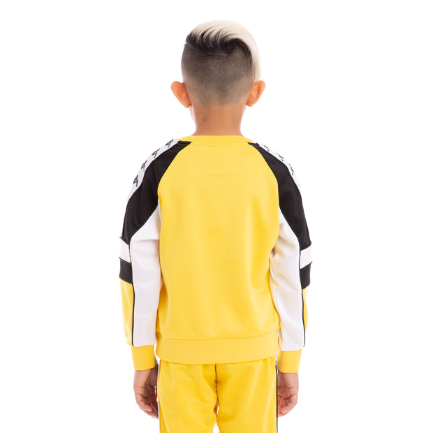 Kappa Kids 222 Banda Arlton Yellow Black White Sweatshirt