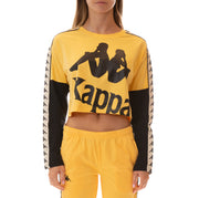 222 Banda Boculus Long Sleeves Tee - Yellow Banana White Egg Black