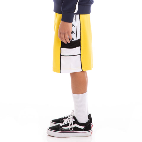 Kappa Kids 222 Banda Arawa Yellow Black White Shorts