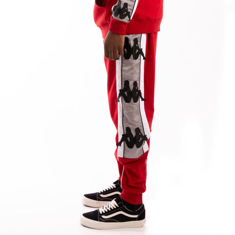 Kappa Authentic Zallard Red Dk Grey Silver Pant