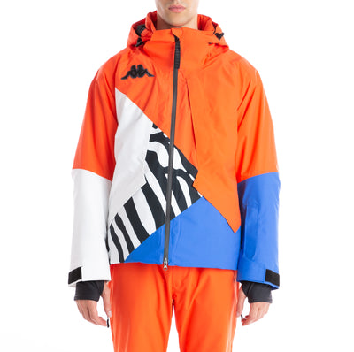 6Cento 611P Orange Blue Zebra Padded Ski Jacket