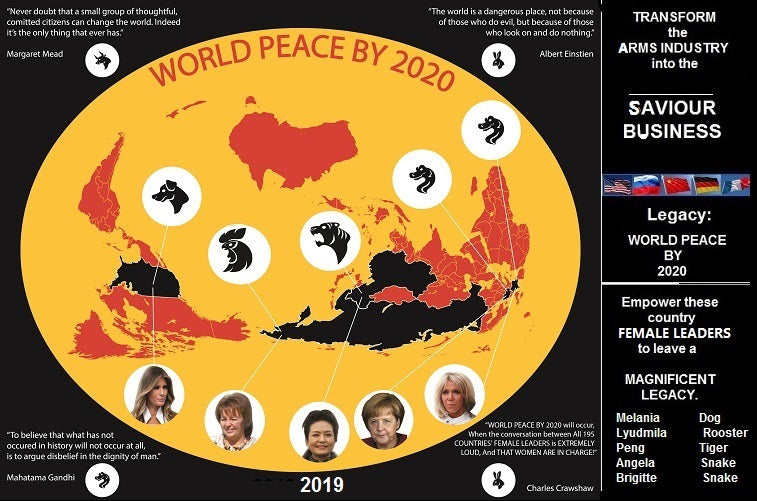 WORLD PEACE BY 2020 lies with our FEMALE WORLD LEADERS