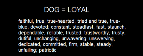 DOG = LOYAL