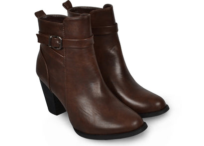 Bottines marrons Sarah - Chaussures femme - Mendelia.fr