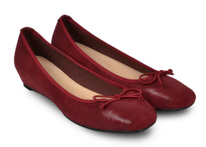 Ballerines rouges Frederica - Chaussures femme - Mendelia.fr