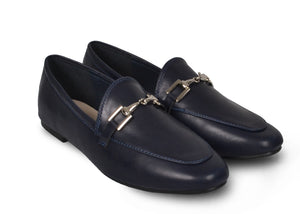 Mocassins marines Victoire - Chaussures femme - Mendelia.fr