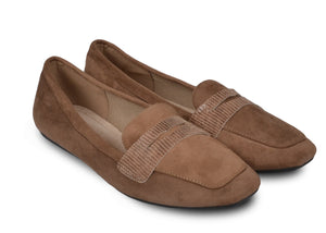Mocassins taupes Gaby - Chaussures femme - Mendelia.fr