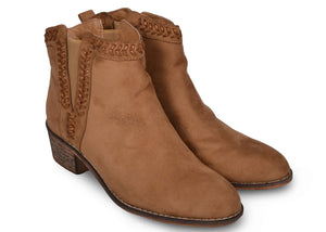 Bottines marrons Lucie - Chaussures femme - Mendelia.fr