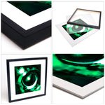 At the bottom of the Sea, your Eyes No. 3 (modern Abstract Art in Green) | Limited Edition