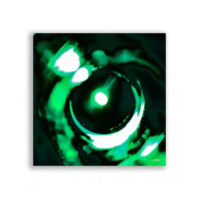 Abstract - At The Bottom Of The Sea, Your Eyes No. 3 (Modern Abstract in Green) | Limited Edition - jspfinearts
