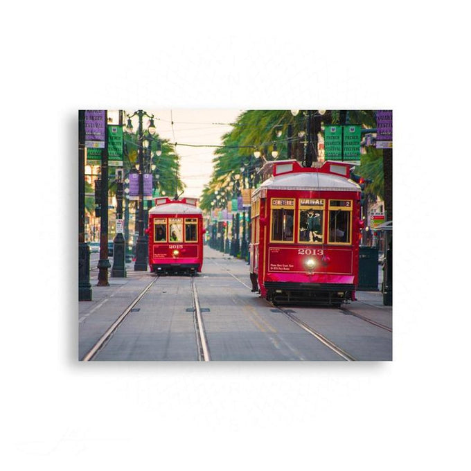 French Quarters - Canal Street Trolley Cars - Iconic New Orleans | Limited Edition - jspfinearts