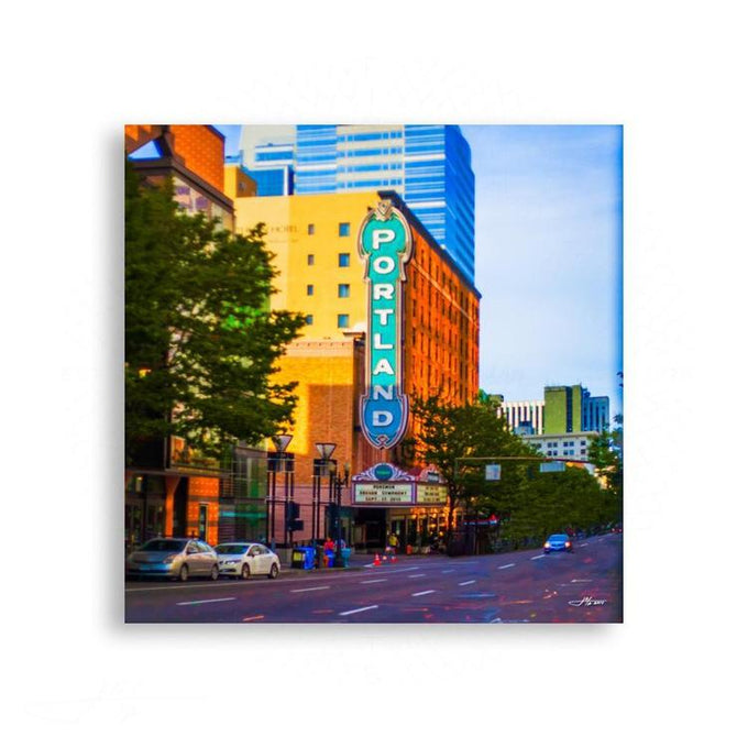 Portland - Portland Concert Hall In Full Color | Limited Edition - jspfinearts