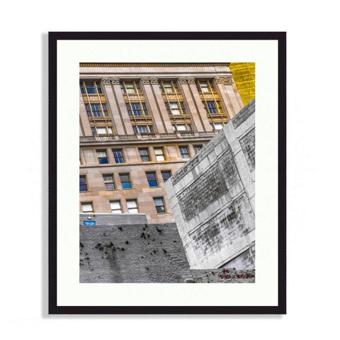 New Orleans - Architectural Abstract Of Downtown New Orleans | Limited Edition - jspfinearts