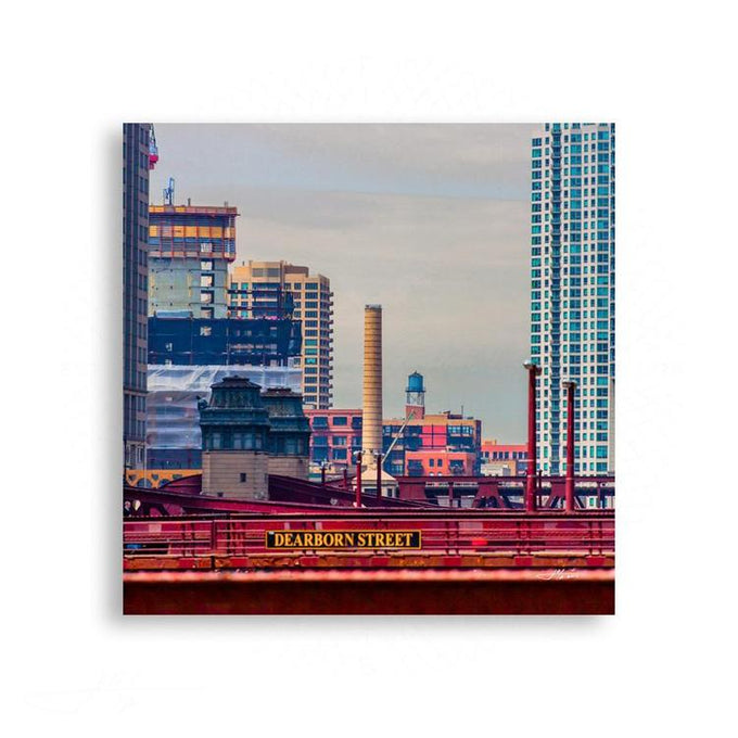Chicago - Colorful Chicago Skyline in Detail | Limited Edition - jspfinearts