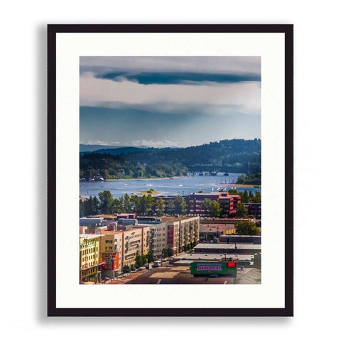 Cityscape - Downtown Portland with Mount Hood. | Limited Edition - jspfinearts