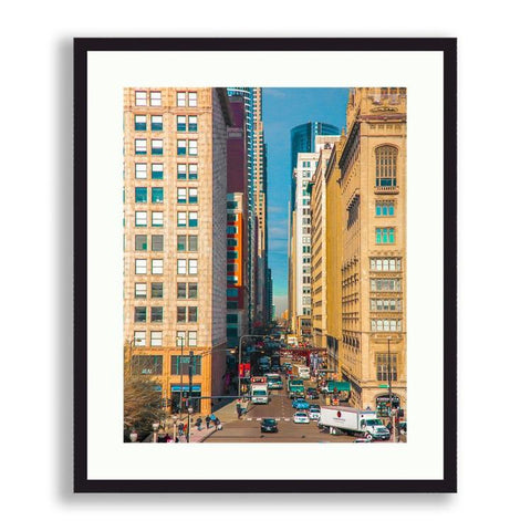 Cityscape - Colorful South Michigan Avenue | Limited Edition - jspfinearts