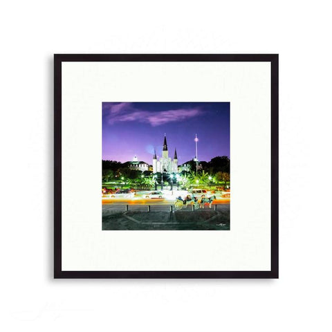 French Quarters - Historic Jackson Square In Night Lights | Limited Edition - jspfinearts