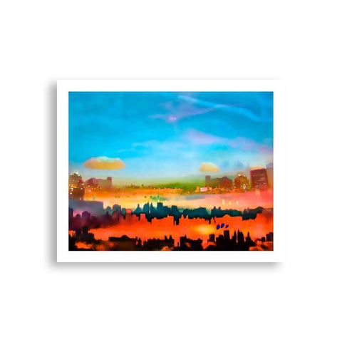 Abstract - Abstracted NYC Skylines | Limited Edition - jspfinearts