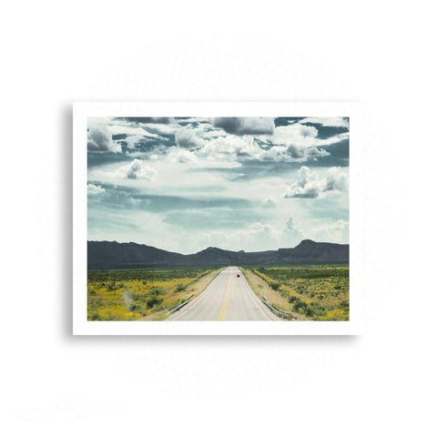 Marfa - Red Car on an Open Road | Limited Edition - jspfinearts