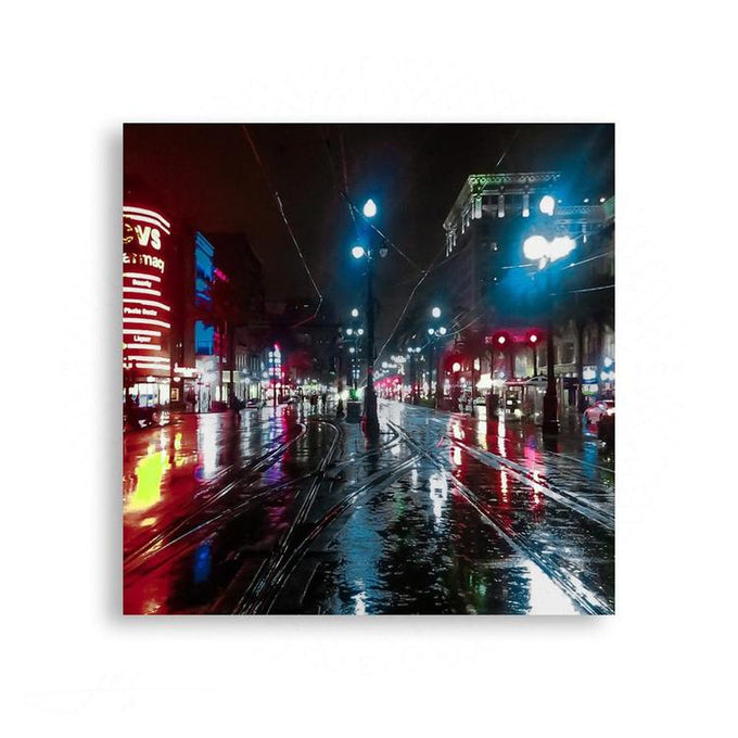 New Orleans - Canal Street On A Dreamy New Orleans Night | Limited Edition - jspfinearts