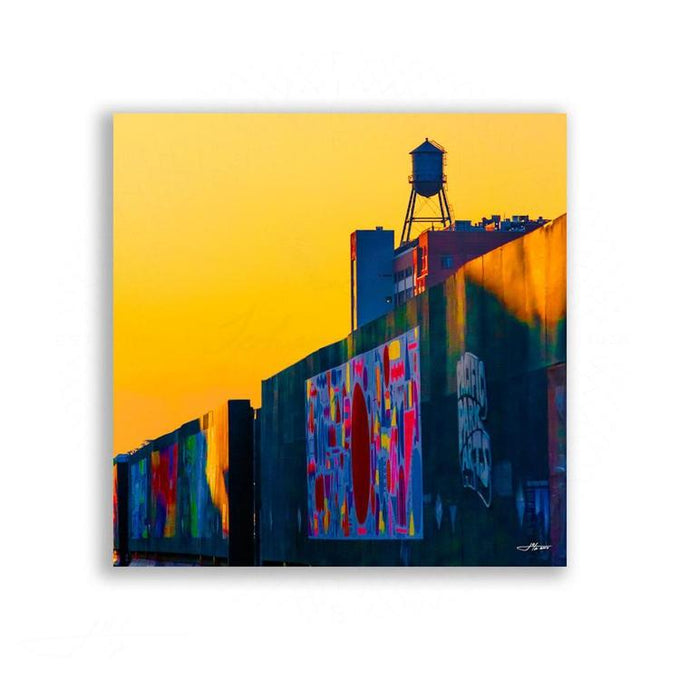 Brooklyn - Brooklyn Sunset: Liquid Gold | Limited Edition - jspfinearts