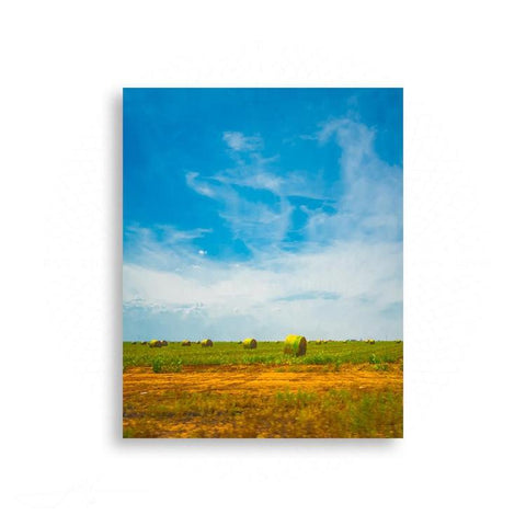 Americana - Pastoral Landscape Dotted With Bales Of Hay | Limited Edition - jspfinearts