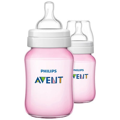 AVENT Classic 1m+ 260ml 2 pack - Pink