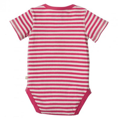 Springtime Body - Raspberry Fine Stripe/ Flower