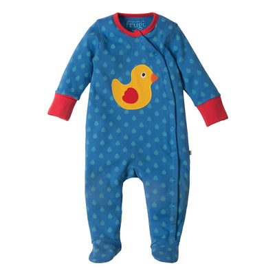 Swoop Babygrow - Sail Blue Drops/ Duck