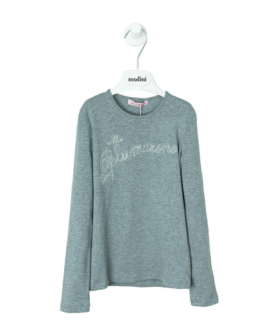 CAMISETA GRIS MISS BLUE MARINE