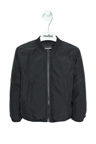JACKET BLACK FOR THE BOY DSQUARED2