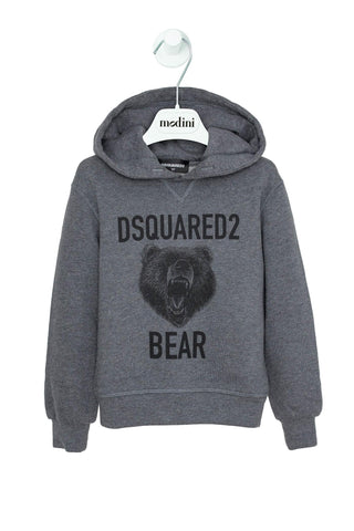 SWEATSHIRT GREY FOR THE BOY DSQUARED2 WITH SLEEVES
