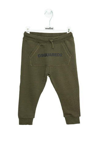 SPORT TROUSERS FOR THE BOY DSQUARED2 KHAKI COLOR