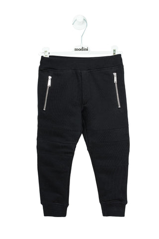 SPORT TROUSERS FOR THE BOY DSQUARED2 BLACK COLOR