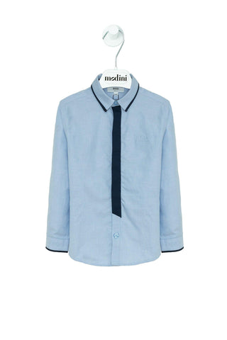 CAMISA M.L AZUL HUGO BOSS KIDS