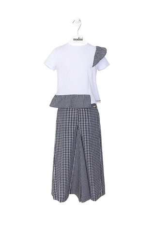 TROUSERS Y BLUSA JACQ.MIX VICHY